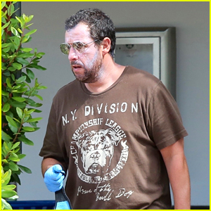 Adam Sandler Layers On Sunscreen While Wearing a Mask Out in LA