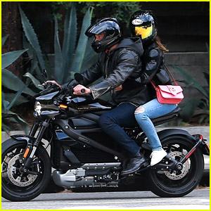 Ben Affleck Takes A Motorcycle Ride With Girlfriend Ana de Armas in LA