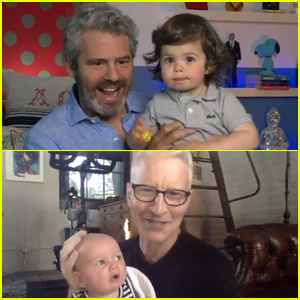 Andy Cohen & Anderson Cooper Host Virtual Introduction for Their Sons on Father's Day - Watch!