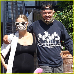 Pregnant Ashlee Simpson Shows Off Baby Bump While Running Errands With Evan Ross