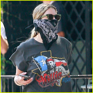 Ashley Benson Practices Social Distancing While Picking Up Food To Go