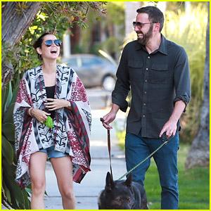 Ben Affleck & Ana de Armas Share Big Laughs on Their Monday Dog Walk