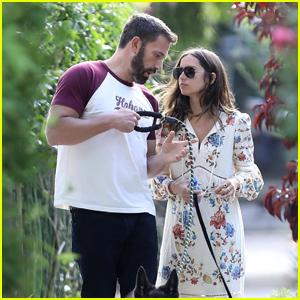 Ben Affleck & Girlfriend Ana de Armas Enjoy an Evening Walk Together