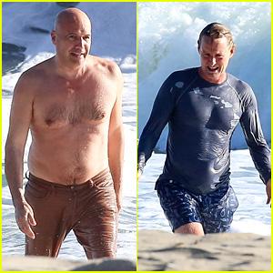 'Zoolander' Co-Stars Owen Wilson & Billy Zane Hit the Beach Together in Malibu