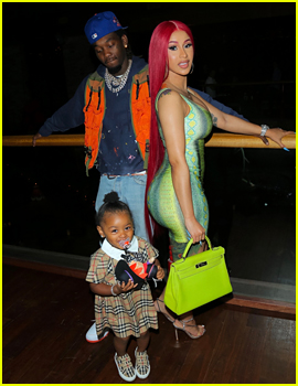 Cardi B & Offset's Daughter Kulture Photo Bombed Their Father's Day Pic & 'Did It on Purpose!')