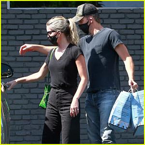 Chris Pine Opens the Car Door for Girlfriend Annabelle Wallis After Shopping for Pet Supplies