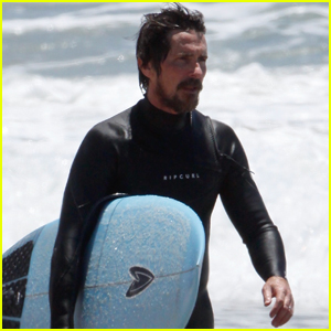 Christian Bale Spends the Afternoon Surfing in Los Angeles