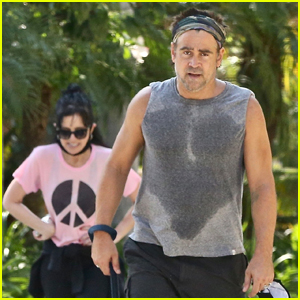 Colin Farrell Works Up a Sweat During Workout with Sister Claudine