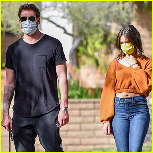 Dylan McDermott Walks His Dog with Model Erica Souza