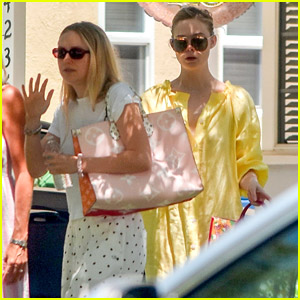 Sisters Dakota & Elle Fanning Stop By Sweet 16 Party For a Friend