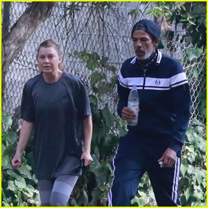 Ellen Pompeo & Husband Chris Ivery Go Hiking Together at Griffith Park