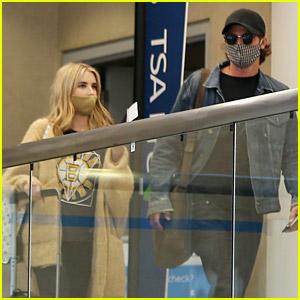 Emma Roberts & Garrett Hedlund Spotted at Airport After Pregnancy News