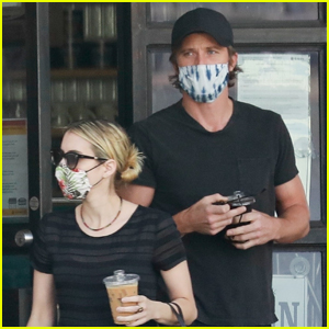 Emma Roberts & Boyfriend Garrett Hedlund Pick Up Their Saturday Morning Coffee
