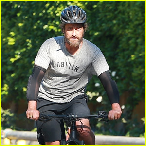 Gerard Butler Goes a Bike Ride After His Movie News Gets Announced