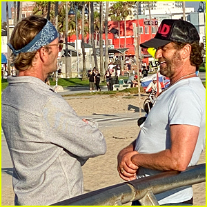 Gerard Butler Takes Bike Ride To The Beach After 'Kandahar' Movie News Is Announced