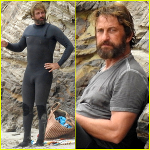 Gerard Butler Puts On His Skintight Wetsuit for a Day of Surfing