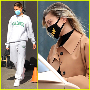 Hailey Bieber Rocks Her Long Trench Coat on Multiple Errands After Weekend Road Trip