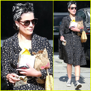 Halsey Keeps Things Cute in Star-Print Dress for Trip to CVS