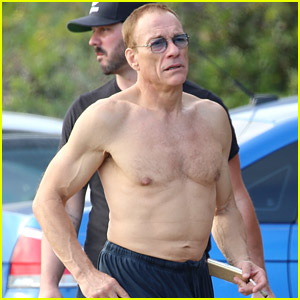 Jean-Claude Van Damme Goes Shirtless, Still Looks Ripped at 59