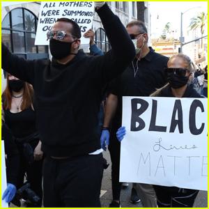 Jennifer Lopez & Alex Rodriguez Protest for Black Lives Matter in L.A.