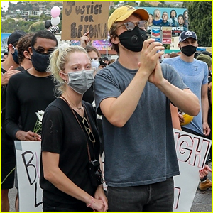 'Stranger Things' Star Joe Keery & Girlfriend Maika Monroe Attend Black Lives Matter Protest