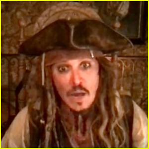 Johnny Depp Makes Virtual Visit to Children's Hospital as Captain Jack Sparrow!