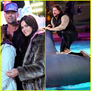 Josh Duhamel & Girlfriend Audra Mari Cheer on Friend to a Win on 'Holey Moley'
