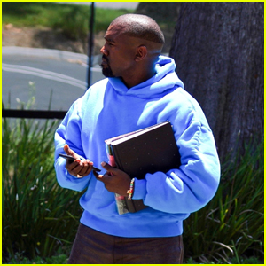 Kanye West Heads to His Office in Calabasas With a New Haircut