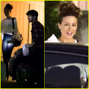 Kate Beckinsale & Boyfriend Goody Grace Spend Time at a Friend's House