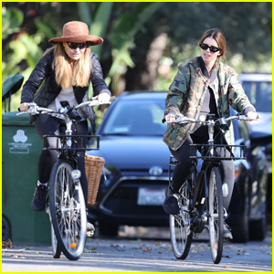 Pregnant Katherine Schwarzenegger Goes for a Bike Ride With Mom Maria Shriver