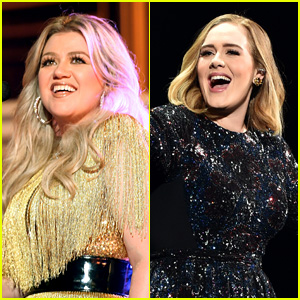 Kelly Clarkson Addresses The Discussion Surrounding Adele S Weight Loss Adele Kelly Clarkson Just Jared