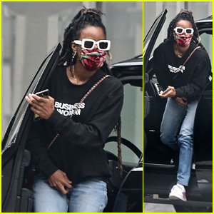 Kelly Rowland Wears a 'Business Woman' Sweatshirt While Heading Out in Beverly Hills