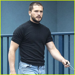 Kit Harington Debuts a New Buzz Cut During a Walk with His Dog