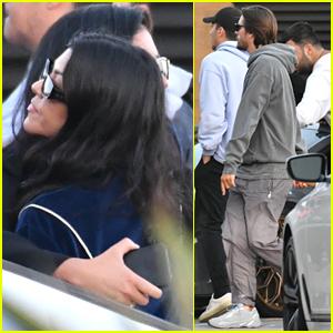 Kourtney Kardashian & Scott Disick Meet Up With Friends For Lunch