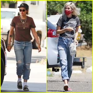 Kristen Stewart & Girlfriend Dylan Meyer Grab Snacks Together on a Gas Station Run