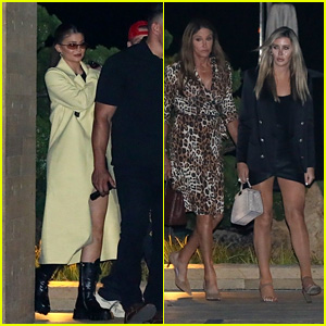 Kylie Jenner & Friend Harry Hudson Join Caitlyn Jenner & Sophia Hutchins for Dinner in Malibu