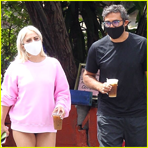 Lady Gaga Goes Pantsless for Coffee Run with Michael Polansky
