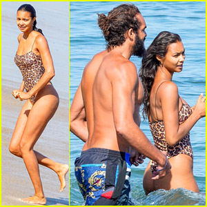 Victoria's Secret Angel Lais Ribeiro Has a Beach Day with NBA Player Fiance Joakim Noah!