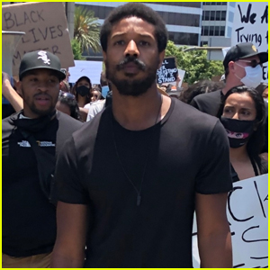 Michael B. Jordan Marches in Black Lives Matter Protest in Beverly Hills