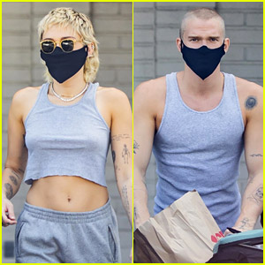Miley Cyrus & Cody Simpson Wear Matching Tops While Shopping at CVS
