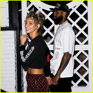 Odell Beckham Jr. Packs on the PDA With Girlfriend Lauren Wood in West Hollywood