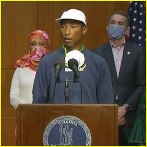 Pharrell Williams Helps to Announce Juneteenth as a State Holiday in Virginia - Watch! (Video)