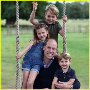 Prince William Poses with All The Kids in Candid Father's Day Photos Taken by Wife Kate!