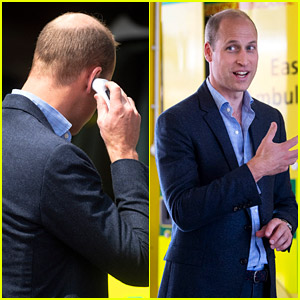 Prince William Takes His Temperature Before First Public Appearance Since Lockdown
