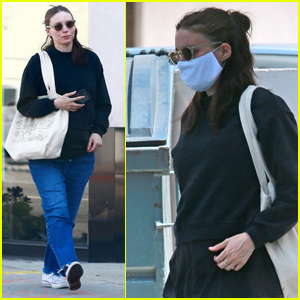 Rooney Mara Covers Up Her Baby Bump During Trip to the Spa