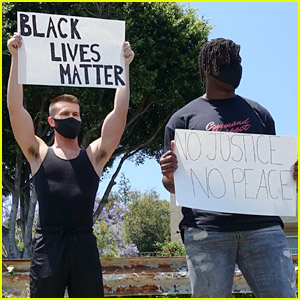 NFL Player Ryan Russell Protests for Black Lives Matter with Boyfriend Corey O'Brien