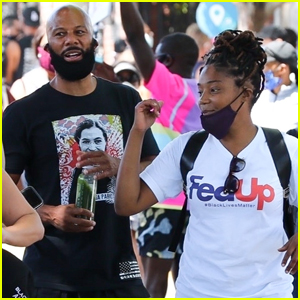 Tiffany Haddish & Common March in Black Lives Matter Protest
