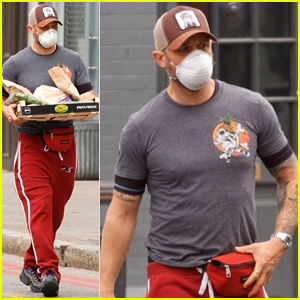 Tom Hardy Stocks Up on Groceries in His Face Mask