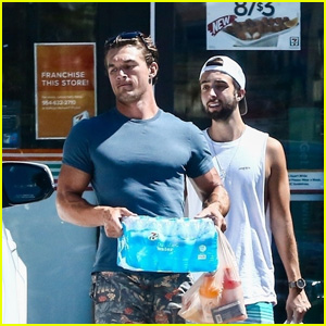 Tyler Cameron & Friend Christopher Garbo Grab Supplies for a Fishing Day