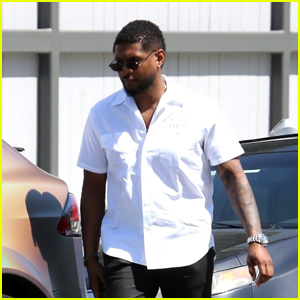Usher Grabs Lunch at Vegan Restaurant in West Hollywood